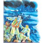 """Иллюстрация к книге О. Тихомирова """"Александр Невский"""". 1978"""