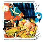 """Иллюстрация к книге А. Нечаева и Б. привалова """"Находчивый солдат"""". 1973"""
