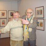 В. Перцов и А. Траугот на выставке